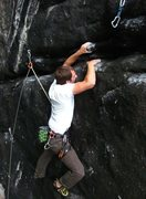 Rock Climbing Photo: Through the right traverse