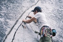 Rock Climbing Photo: Russ Just off the block
