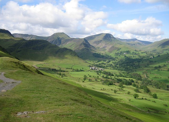 Rock Climbing Photo: The Newlands Valley, The Lake District, NW England...