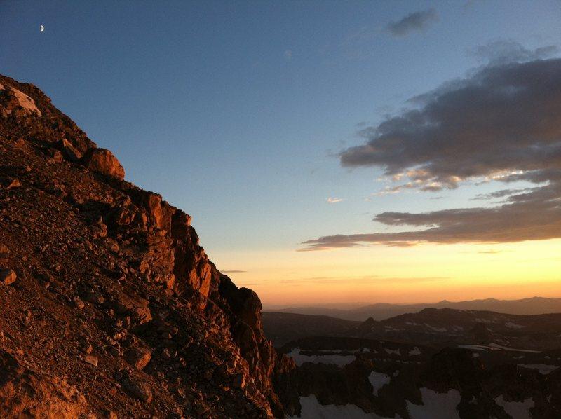 Rock Climbing Photo: Lower Saddle at sunset