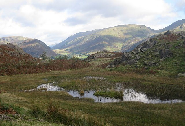 Dunmail Raise near village of Grasmere, Lake District, NW England. Photo Bowker
