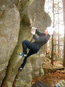 Rock Climbing Photo: Morgan cruising the good warm up.