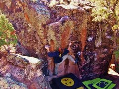 Rock Climbing Photo: Moving up on the C Squad problem.
