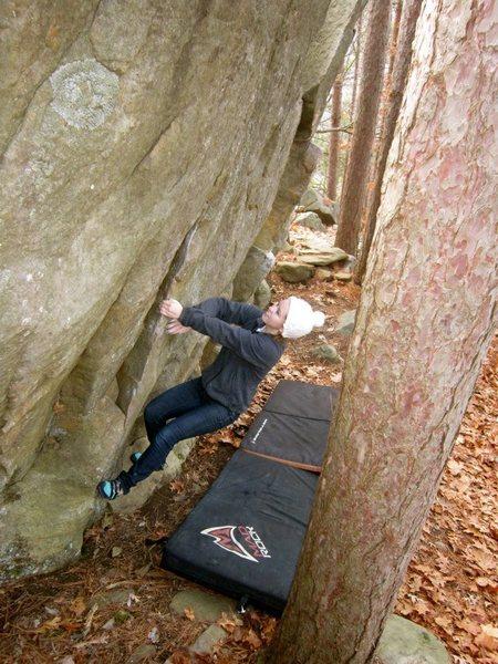 Rock Climbing Photo: Morgan at the start