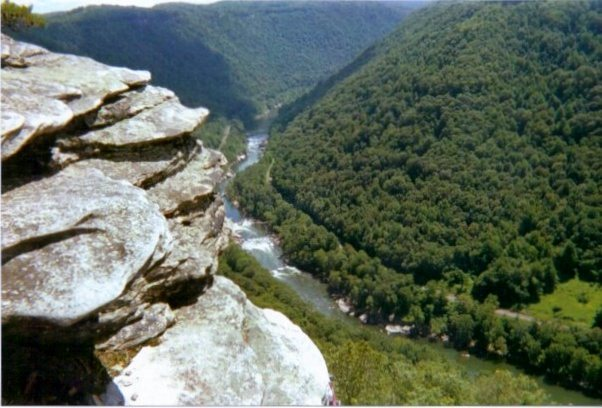 Rock Climbing Photo: Great view of the New River from Diamond Point