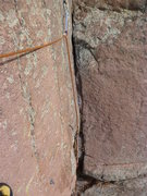 Rock Climbing Photo: Another picture of the crack.