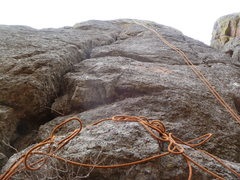 Rock Climbing Photo: Rope hanging down the line.