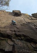 Rock Climbing Photo: Approaching the Skull and Bones block