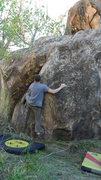 Rock Climbing Photo: The start postion for Money Shot.