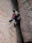 Rock Climbing Photo: This is what happens when I lead chimneys....