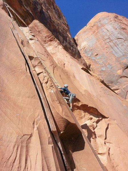 Rock Climbing Photo: gorgeous fall day on flakes of wrath