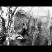 Rock Climbing Photo: Das craigers cruisin the v4+ crux!