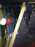 Rock Climbing Photo: Gear storage