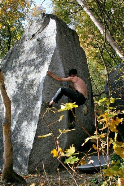 Rock Climbing Photo: Get barreled!