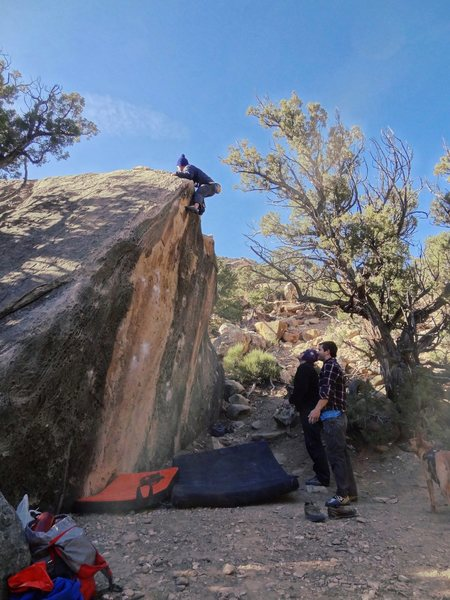 Rock Climbing Photo: Josh topping out Obtuse in style