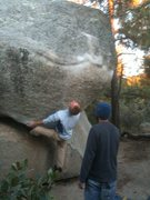 Rock Climbing Photo: Larz in charge