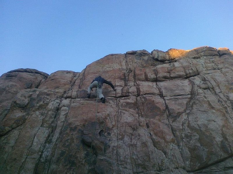Rock Climbing Photo: Free solo!