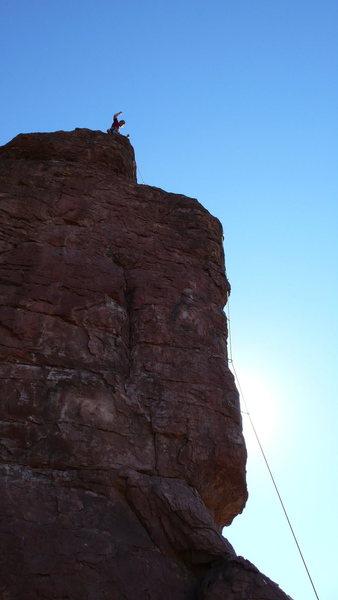 Geir on top of Godhead North, sweet!!