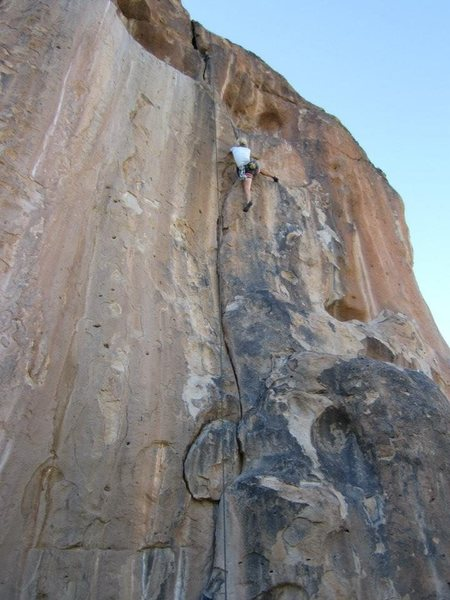 "Rock Climbing Photo: Kelly enjoying ""California Crack"" in the..."