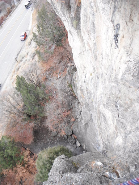 Rock Climbing Photo: photo of Mission Statement from above