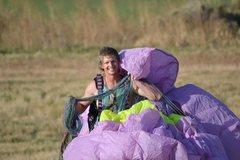 Rock Climbing Photo: Paragliding