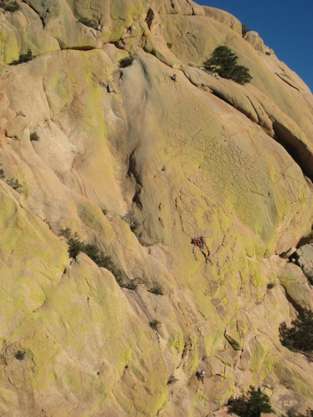 Rock Climbing Photo: Beanfest hanging out on the 2nd to last belay with...