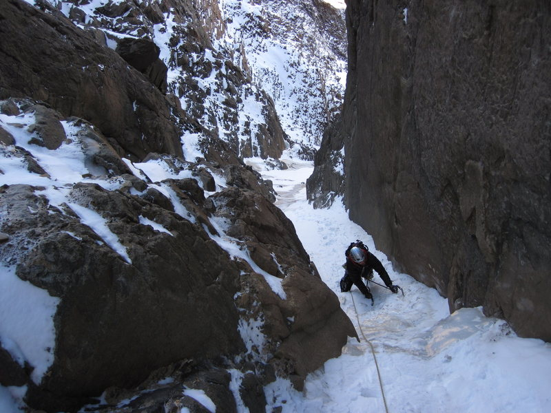 """North Central Couloir""."