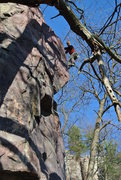 Rock Climbing Photo: Kris Gorny leading Grand Inquisitor Bill's Buttres...
