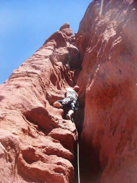 Rock Climbing Photo: Todd leading P2.