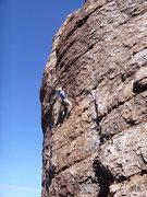 Rock Climbing Photo: Jimbo just before the crux