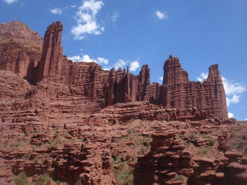 Rock Climbing Photo: Fisher Towers, Utah.  What a beautiful place!