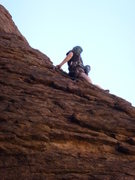 Rock Climbing Photo: Marcy halfway up her lead