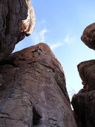 Rock Climbing Photo: AMH beginning the crux section.