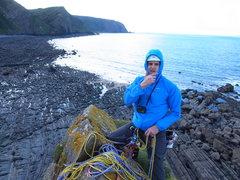 Rock Climbing Photo: top of block