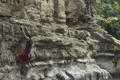 Rock Climbing Photo: River boulder