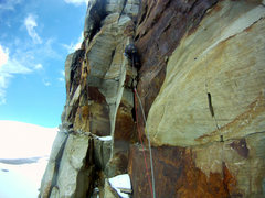 Rock Climbing Photo: The first Pitch of  el Púlpito del Diablo, 5.8 st...