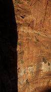 Rock Climbing Photo: going down