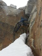 Rock Climbing Photo: Adrien Marin (Switzerland) The final pitch of el P...
