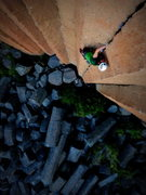 Rock Climbing Photo: Sean Sullivan finds the flow on Mr. Squiggles.   P...