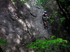 Rock Climbing Photo: James Sullivan sending in the shade.   Photo: Core...