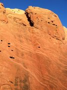Rock Climbing Photo: The route basically follows the right-hand rope, b...