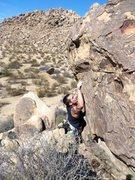 Rock Climbing Photo: Working the Clown Foot