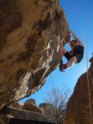 Rock Climbing Photo: Jorden on the Fancy footwork