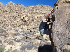 Rock Climbing Photo: Starting the thin foot edging