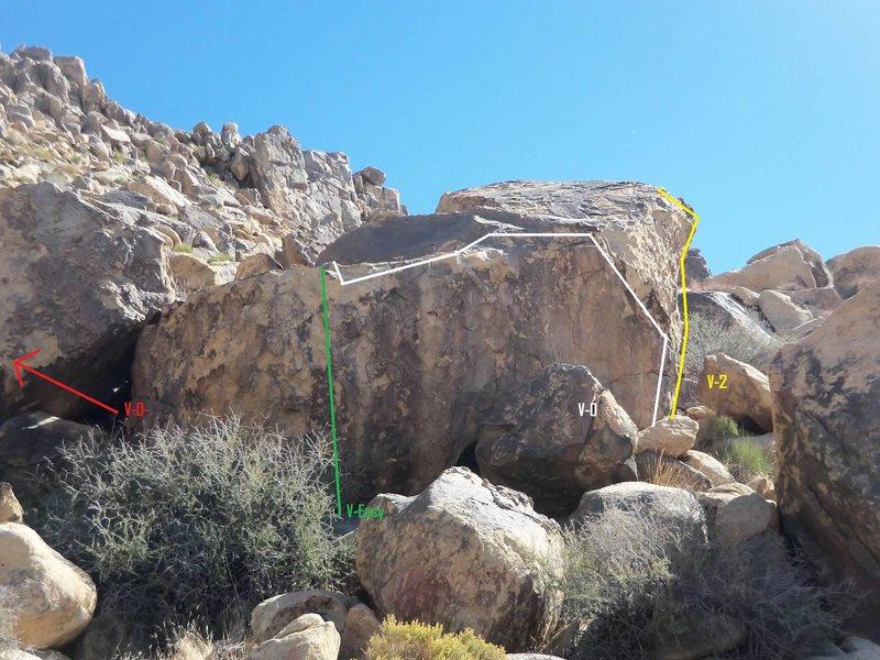 """West Face of North """"Ring Side Boulder"""""""