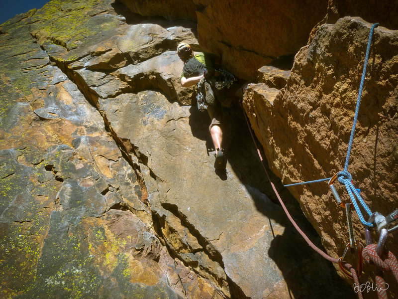 Rock Climbing Photo: Will Gordan on lower Rover.