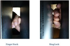 Rock Climbing Photo: finger stack v ring lock