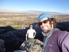 Rock Climbing Photo: Summit elation.