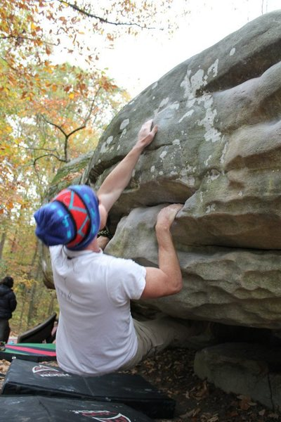 Rock Climbing Photo: LowDown.    After Established on Slopers.         ...