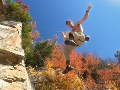 Rock Climbing Photo: Getting lowered on an unknown new 12a/b route just...